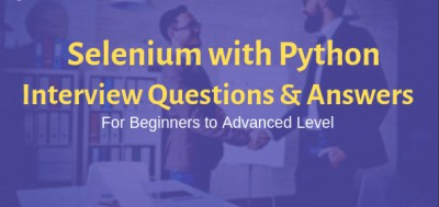 Selenium using Python Interview questions